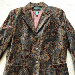 Lauren Ralph Lauren Patterned Velvet Blazer